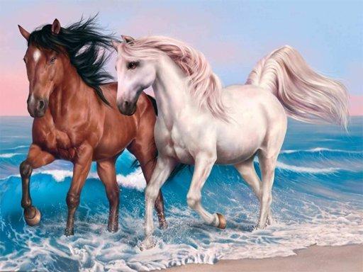 Animals Jigsaw Puzzle - Horses