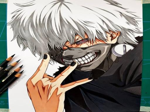 anime coloring book tokyo ghoul Play online