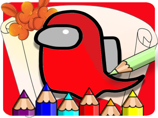 Coloring Book For Amoung Us