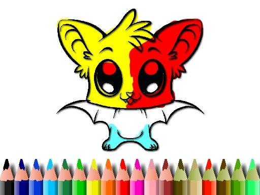 Cute Bat Coloring Book