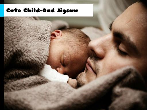 Cute Child-Dad Jigsaw