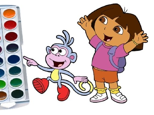 - Play Dora The Explorer Coloring Book Free Online Mobile And Tablet Games.  KidzSearch.com