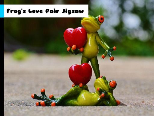 Frogs Love Pair Jigsaw