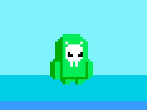 green alien fall guys