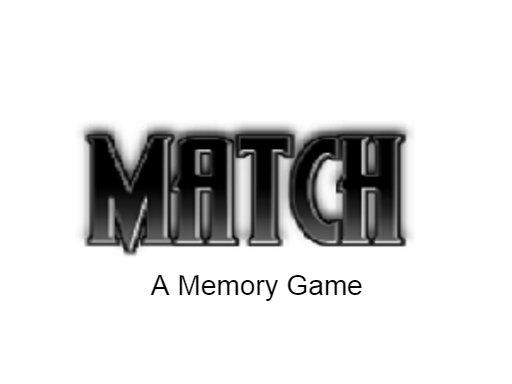 Match  A memory game