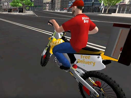 Motor Bike Pizza Delivery 2020