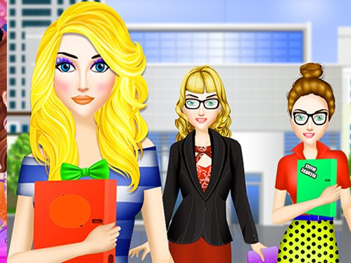 Office Dress Up Fashion Makeover: Girl Dress up