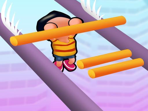 Roof Run: Slide Roof Rails  simple fun game