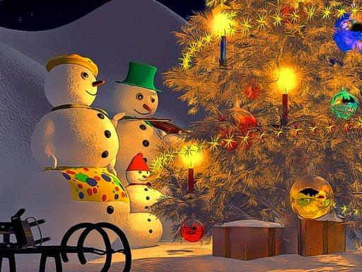 Snowman Family Time