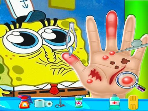 Spongebob Hand Doctor Game Online  Hospital Surge