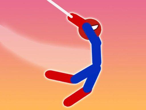 Super Hero Flip: Spider Stickman Hook