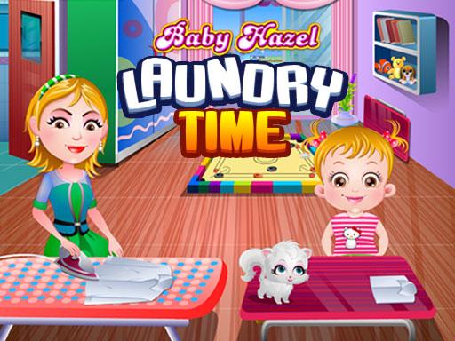 Baby Hazel Laundry Time