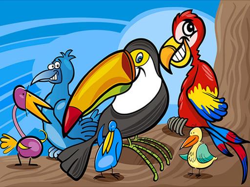 Exotic Birds Coloring