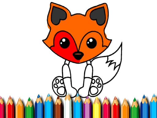 Fox Coloring Book
