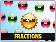 Orbiting Numbers Fractions