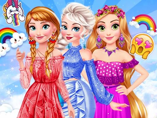 Princesses Rainbow Dressup
