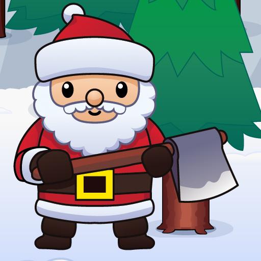Wood Cutter Santa Idle