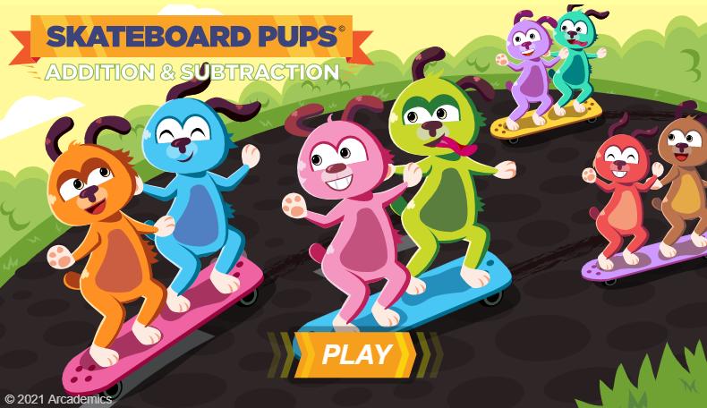 Skateboard Pups AddSub