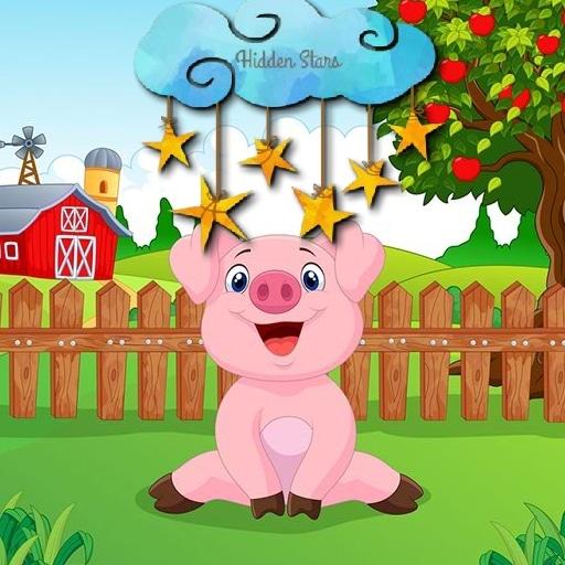 Cartoon Farm Hidden Stars
