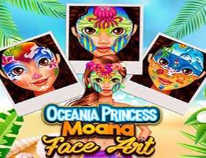 Oceania Princess Moana Face Art